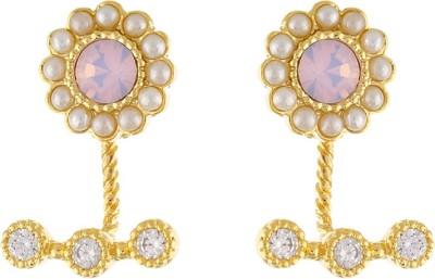 Aarushi Sparkling Cubic Zirconia Alloy Drops   Danglers Aarushi Earrings