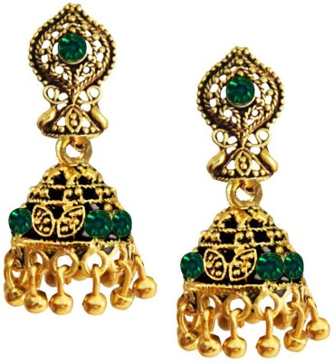 Being Women Gold Plated Oxidized Fashion Alloy Jhumki Earring at flipkart