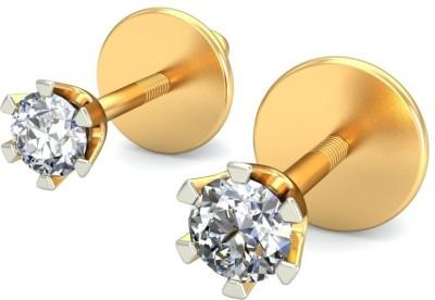 Belle Diamante Yellow Gold 18kt Stud Earring