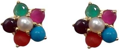vinayak Navratan Pearl Alloy Stud Earring vinayak Earrings