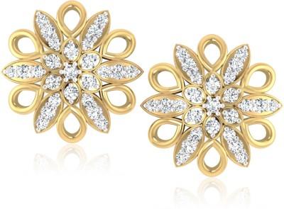 IskiUski Rosalind Earrings Yellow Gold 14kt Swarovski Crystal Stud Earring