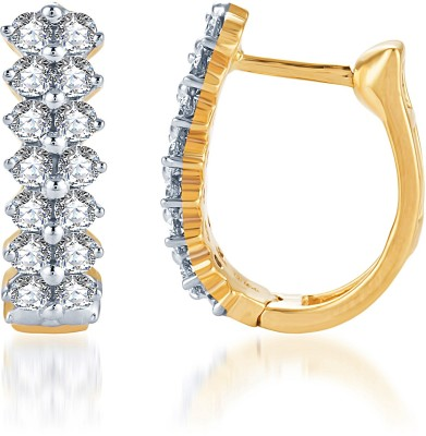 KaratCraft Yellow Gold, White Gold 18kt Hoop Earring at flipkart
