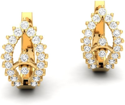 Jewels5 Yarrow Yellow Gold 18kt Diamond Hoop Earring(Rhodium Plated)  available at flipkart for Rs.44115