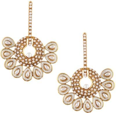 Jewels Capital Diva Style Pearl Alloy Chandbali Earring Jewels Capital Earrings