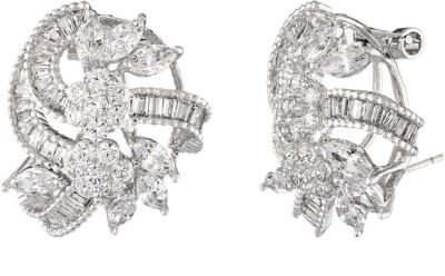 Shaze POSY EARRING SLV 4254_1 Cubic Zirconia Brass Stud Earring at flipkart