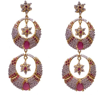 Rejewel Rejewel AD Long Earrings Alloy Drops & Danglers at flipkart
