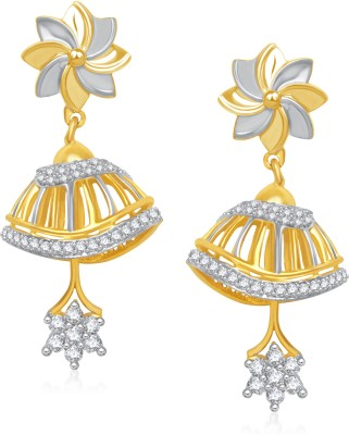 VK Jewels Daisy Flower Cubic Zirconia Alloy Jhumki Earring at flipkart
