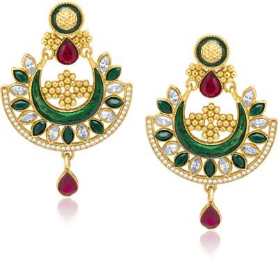 VK Jewels Traditional Wedding Diamond Zinc Drop Earring at flipkart