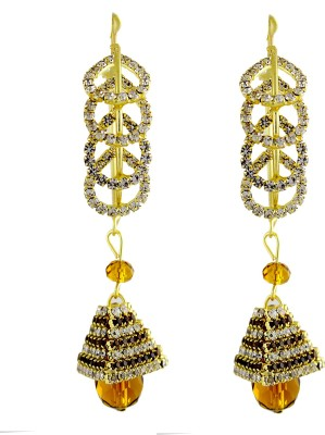 Sewad Artificial Gold Colored Hoop With Jumki (BID1107A) Zircon Copper Jhumki Earring at flipkart
