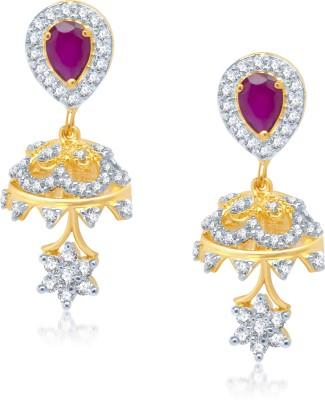 VK Jewels Cubic Zirconia Alloy Jhumki Earring at flipkart