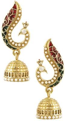 Jewels Capital Diva Style Pearl Alloy Jhumki Earring Jewels Capital Earrings