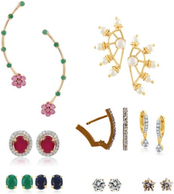 Archi Collection Style Diva Cubic Zirconia Alloy Earring Set at flipkart