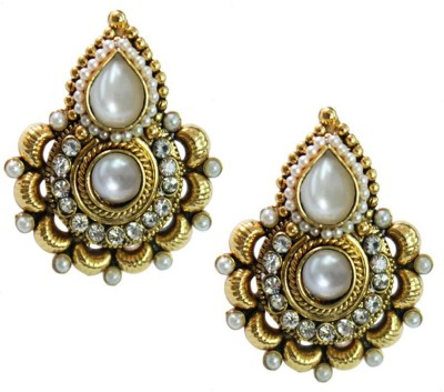 Being Women Elegant Gold-Plated Pearl With Kundan Studded Fashion Alloy Stud Earring  available at flipkart for Rs.1899
