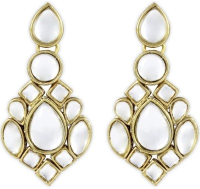 Karatcart Princely Kundan Brass, Alloy Drops & Danglers at flipkart