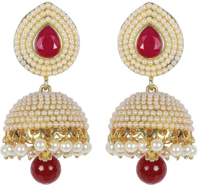 Shining Diva Stylish Fancy Party Wear Pearl Alloy Jhumki Earring at flipkart