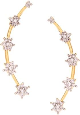 Jewels Galaxy Sparkling Alloy Cuff Earring Jewels Galaxy Earrings
