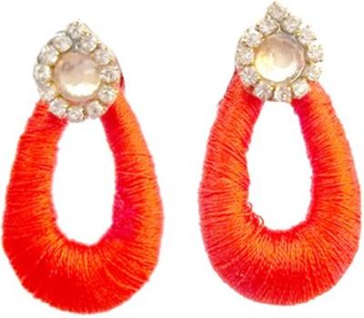 TrendyTrendy TrendyTrendy Silk Thread Jhumka-orange chandbali Plastic Jhumki Earring  available at flipkart for Rs.120