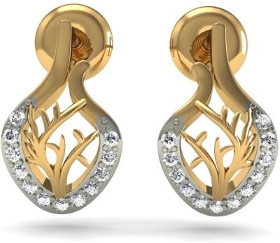 R S Jewels Yellow Gold 18kt Diamond Stud Earring at flipkart