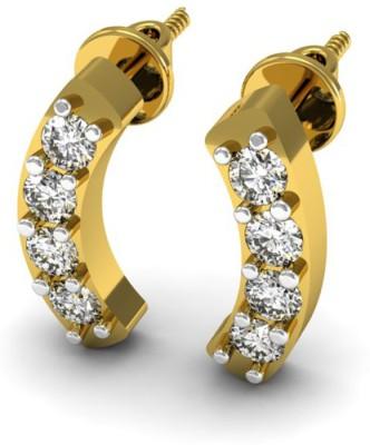 JewelHub Yellow Gold 18kt Diamond Stud Earring