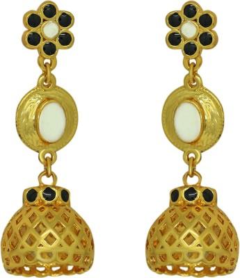 donna Enamled Jhumki Copper Jhumki Earring donna Earrings