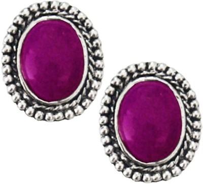 Being Women Oval Shape Stone Studded Alloy Stud Earring at flipkart