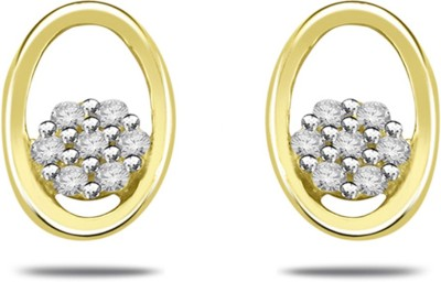 His & Her Beautiful Diamond Sterling Silver Stud Earring at flipkart