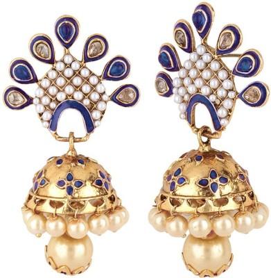 Jewels Capital Diva Style Zircon Alloy Jhumki Earring Jewels Capital Earrings