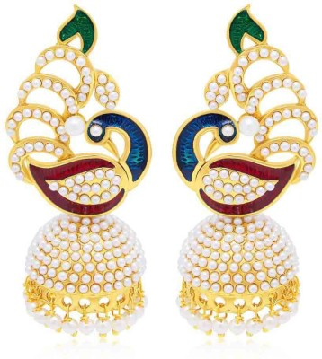 Jewels Gold Cubic Zirconia Alloy Jhumki Earring at flipkart
