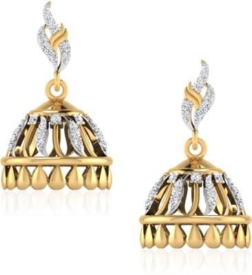 IskiUski The Felicity Swarovski Crystal Gold Jhumki Earring at flipkart