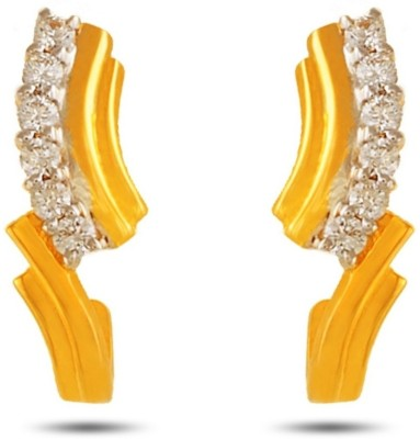 P.N.Gadgil Jewellers Sunrays Yellow Gold 18kt Diamond Stud Earring(Yellow Gold Plated) at flipkart