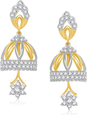 VK Jewels Traditional Cubic Zirconia Alloy Jhumki Earring at flipkart