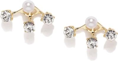 Mast & Harbour Premium Crystal Metal Stud Earring at flipkart