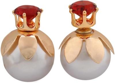 Maayra Chic Indian Crystal Alloy Stud Earring