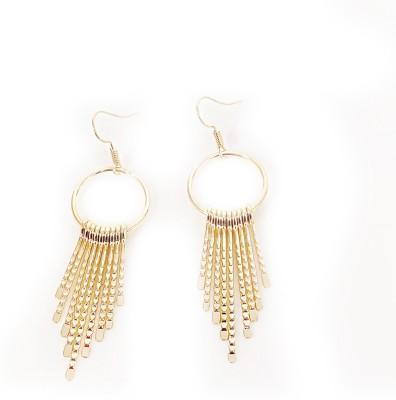 Jewel Touch Rain of GoldStrips Alloy Dangle Earring