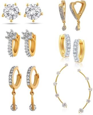 Penny Jewels Cubic Zirconia Alloy Earring Set at flipkart
