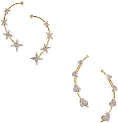 Zeneme Latest Fashionable American Diamond Alloy Earring Set at flipkart