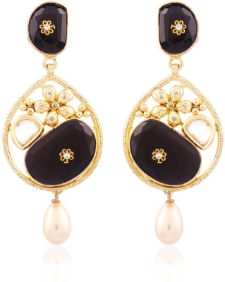 I Jewels Gold Plated Traditional Designer Alloy Chandbali Earring at flipkart