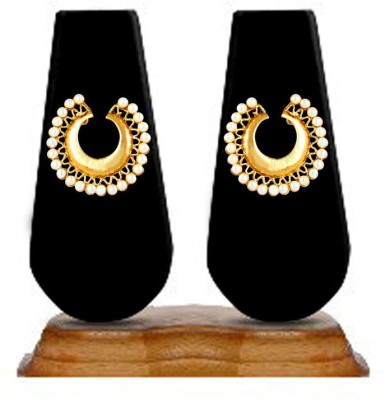 Zaveri Pearls  Exquisite Chandbali Zinc Stud Earring at flipkart