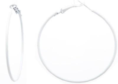 GoldNera White Bite Small Size Alloy Hoop Earring GoldNera Earrings
