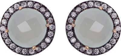 Shine Jewel Spring Delight Chalcedony Sterling Silver Stud Earring