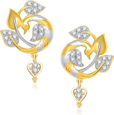 VK Jewels Beautiful Feathers Of Mayur Cubic Zirconia Alloy Drop Earring at flipkart