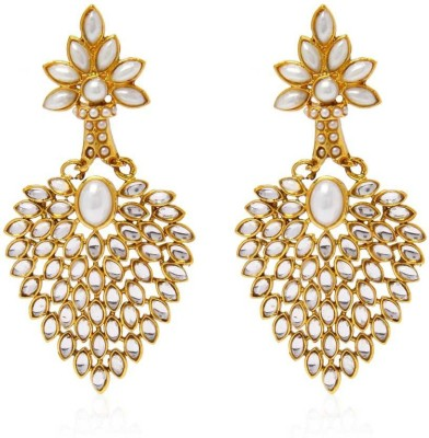 Jewels Guru Pearl Alloy Chandelier Earring at flipkart