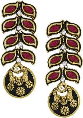 Zaveri Pearls Fashionable Zinc Dangle Earring at flipkart