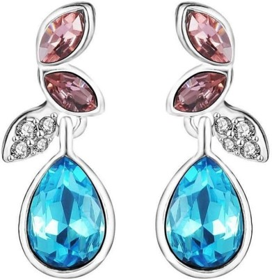 Shimmer Divine Luxuria Cubic Zirconia Alloy Drops   Danglers Shimmer Divine Earrings