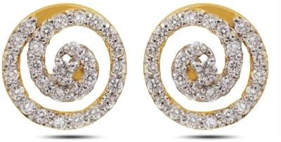 P.N.Gadgil Jewellers Spiral Yellow Gold 18kt Diamond Stud Earring(Yellow Gold Plated) at flipkart