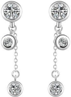 VK Jewels Rain Drop Drop Flower Cubic Zirconia Alloy Dangle Earring