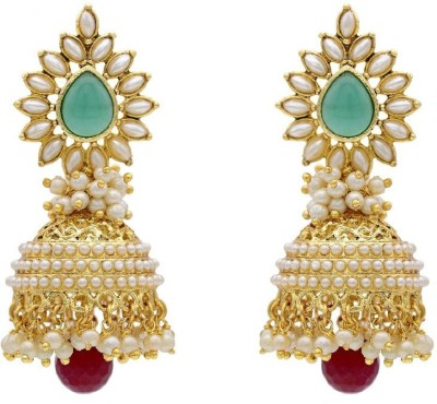 Angel In You Diva Style Pearl Alloy Jhumki Earring at flipkart