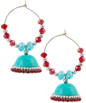 Halowishes Beautiful Hancrafted Baali Jhumka Paper Clip-on Earring  available at flipkart for Rs.289