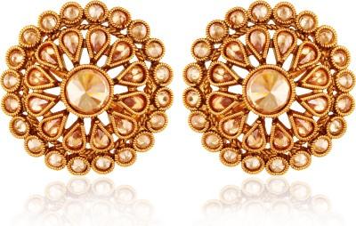 AccessHer Traditional Fashion For women Brass Stud Earring, Drop Earring at flipkart