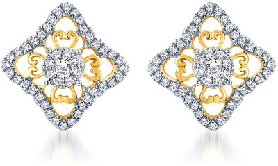 KaratCraft Yellow Gold, White Gold 18kt Stud Earring at flipkart